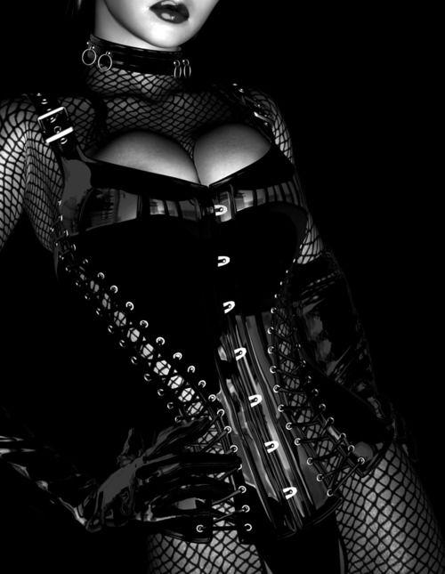Beautiful latex corset