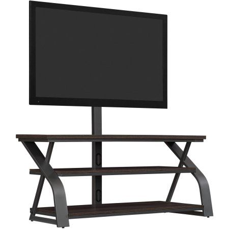Bell'O 50 inch Umber Oak TV Stand with Mount for TV's up to 55 inch