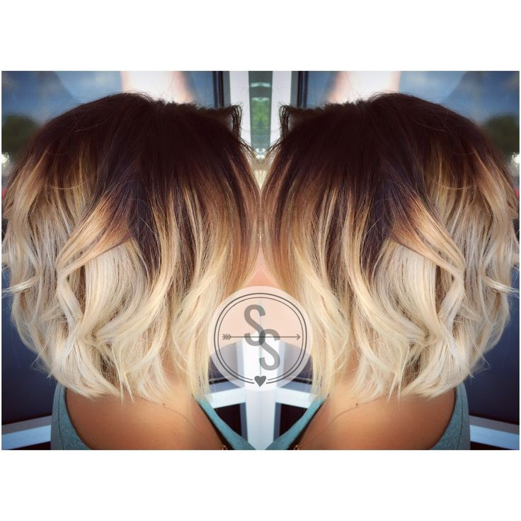 Short hair ombré blonde ombré