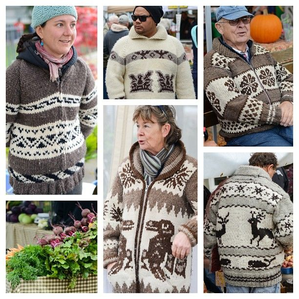 Sweaters spotted at the Duncan Farmer's Market images by Kathy Cadigan.