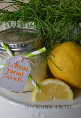 Hickory Trail: Homemade Lemon Facial Scrub