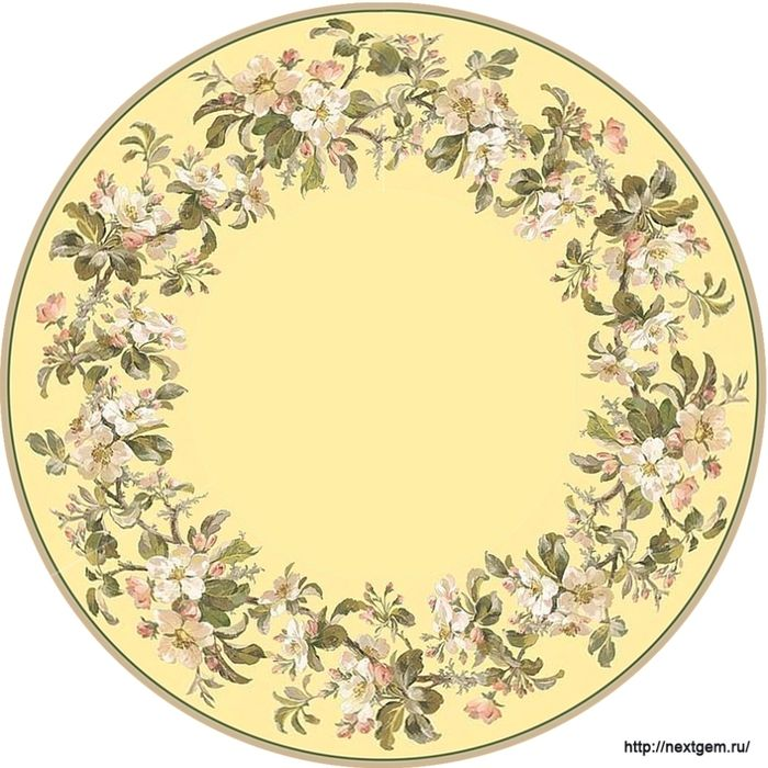 Round floral frames for decoupage. - 6 (700x700, 288Kb)