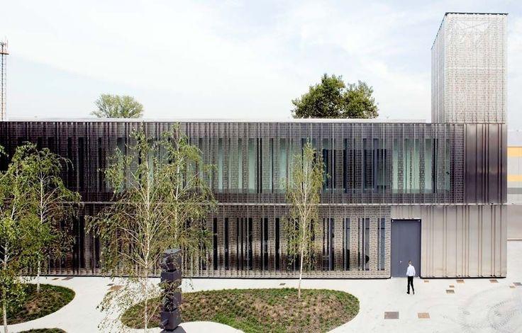 Revestimiento de fachada de chapa / acanalado / perforado / de panel - FRIEM - Stahlbau Pichler