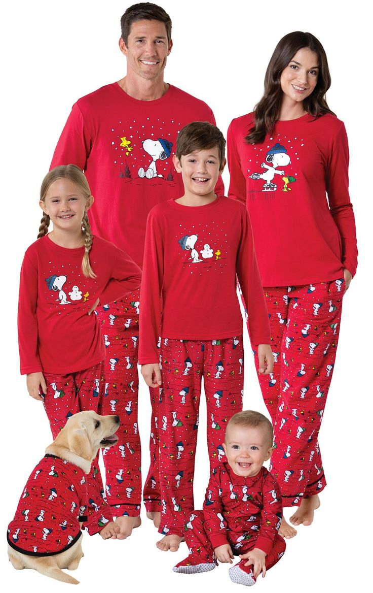 Snoopy & Woodstock Matching Family Pajamas | View All | Matching Family Sets | Pajamagram