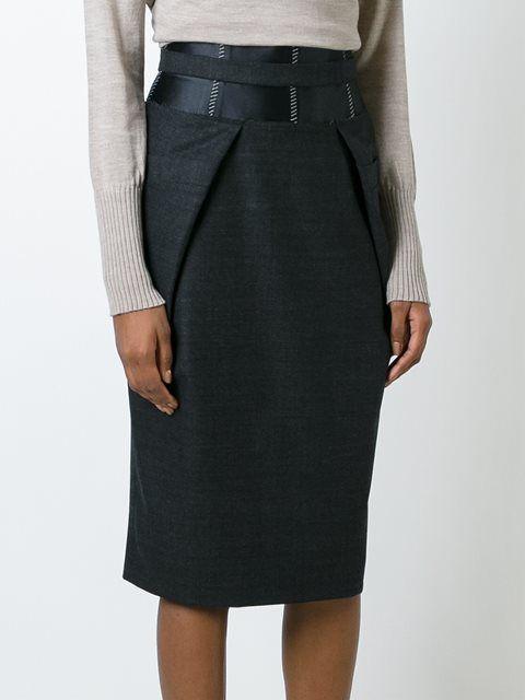 Maison Margiela юбка-карандаш с панельным дизайном