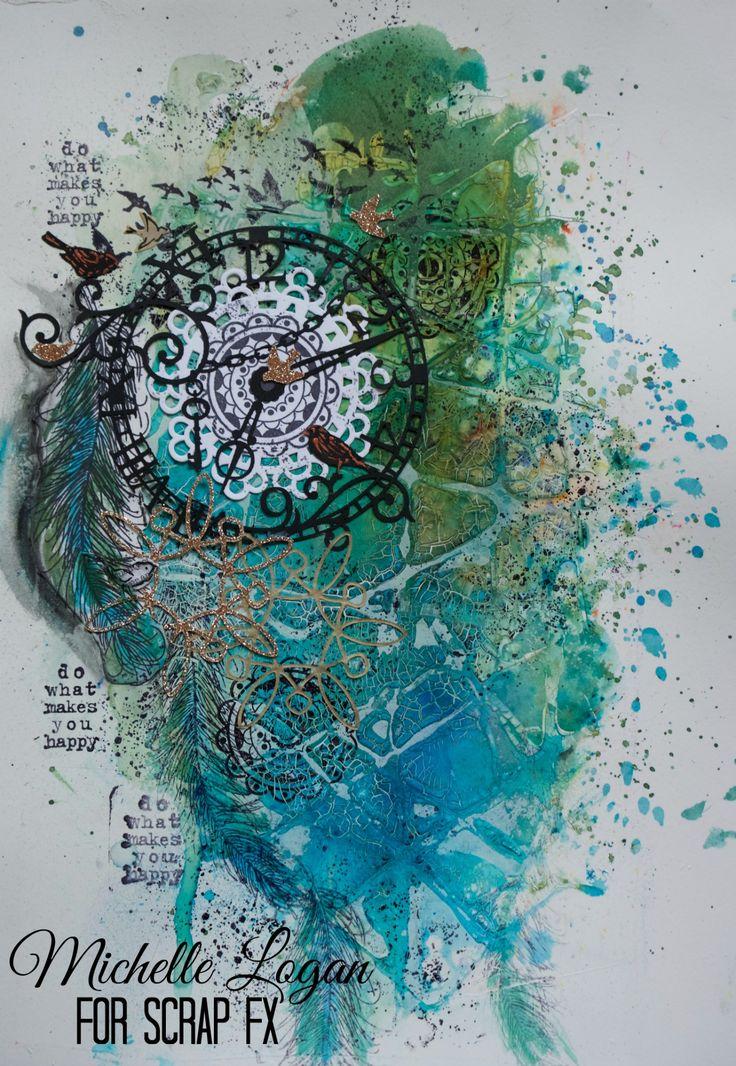 ML Design: Ink, Paint, Stamp & Paper Bliss: Scrap FX Stencil Play.