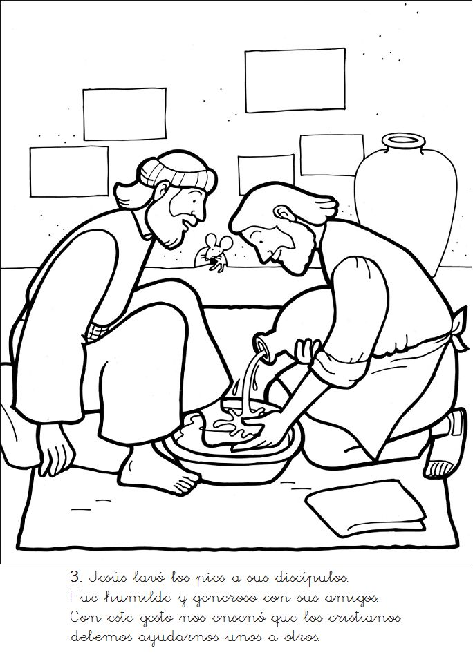 New coloring pages free coloring page jesus washes disciples feet jesus washes the disciples feet coloring page az coloring pages