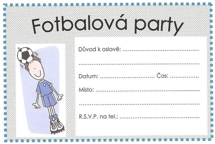 fotbal pozvánka