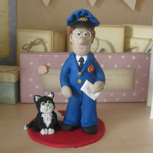 Postman Pat Cake Topper A Other Project By Karacter Krafts  cakepins.com