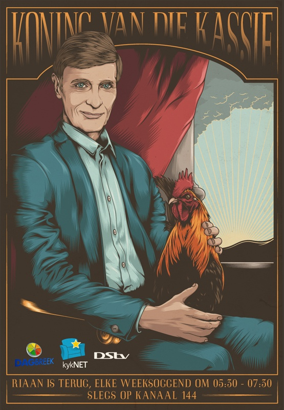 Riaan Cruywagen - Koning van die Kassie by One Horse Town Illustration Studio, via Behance