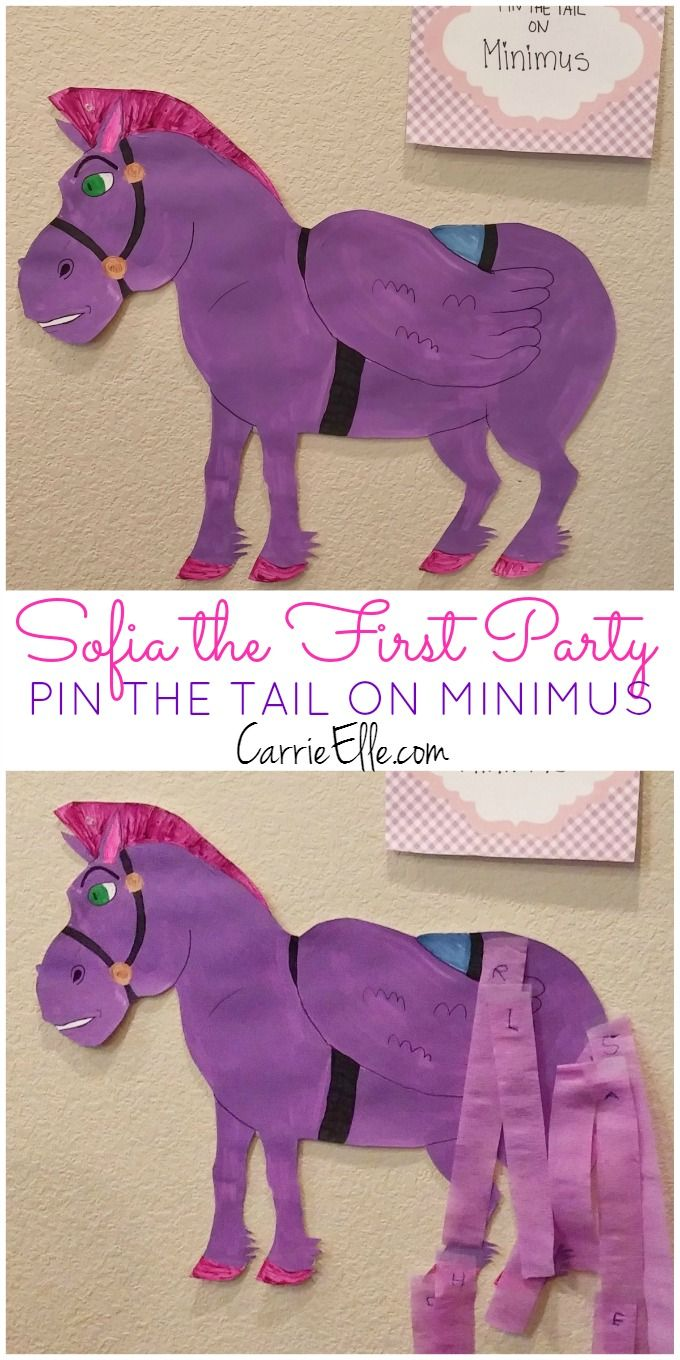 Party Like a Princess: Sofia the First party ideas like this fun Pin the Tail on Minimus game. Come see all the fun Disney princess party ideas, and get a bunch of free princess printables to make your party stress-free!