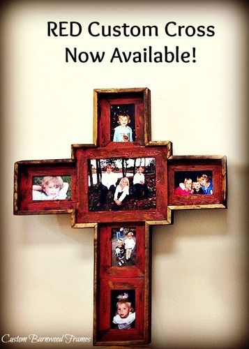 custom barnwood frames large custom cross red 10000 http