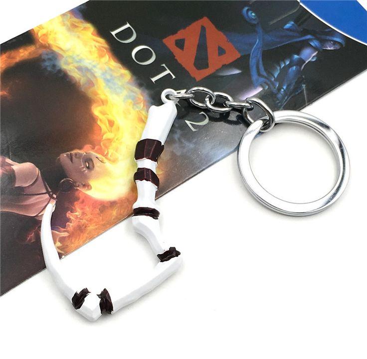 JINSE Game Series Dota 2 Keychain Butcher Pudge Key Chain Immortal Dragon Talon Hook Alloy Dota2 Keyring Christmas Gifts