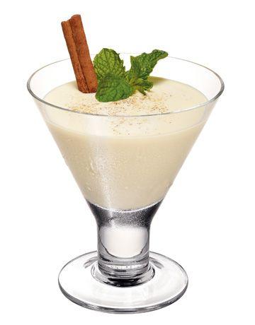 Mocha EggNog Cocktail ~ 2 oz Kahlúa, 1 oz Vodka and eggnog. Sprinkle with nutmeg on top for a festive & tasty garnish. Cheers!