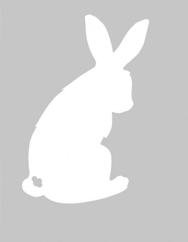 leuk sjaloon voor pasen rabbit print easter bunny Hase Umriss outline silhouette