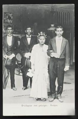 Ambon Wedding Couple Maluku Indonesia ca 1906