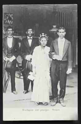 Ambon Wedding Couple Maluku Indonesia ca 1906