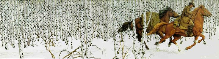 Sacred Ground by Bev Doolittle. We had this print for almost three months before I could see the eagles in the trees.