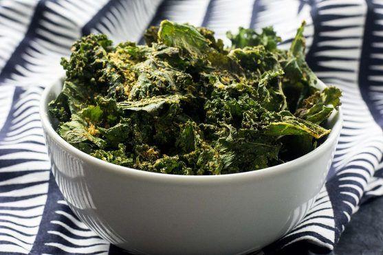 Chips de Chou Kale aux Épices [Vegan]