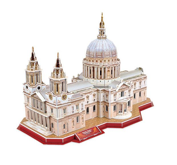 World Attractions StPauls Cathedral Diy Paper Model For Kids 3D Educational Toys