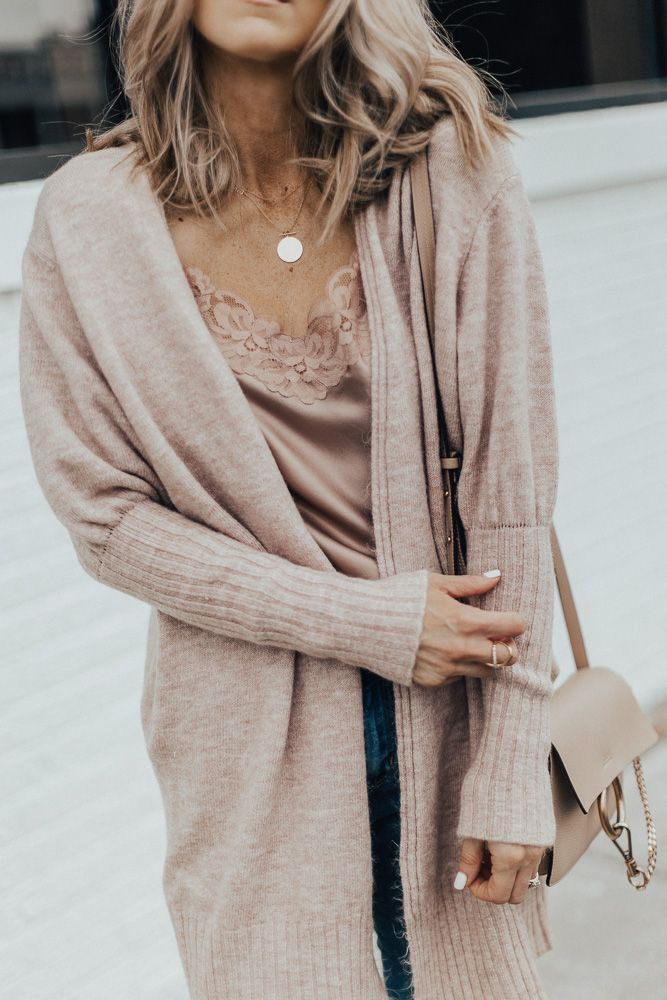 Fall Outfit: Cozy Cardi and Distressed Denim | Cella Jane