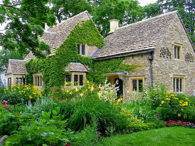 377 best images about cottage living on pinterest for English stone cottage plans