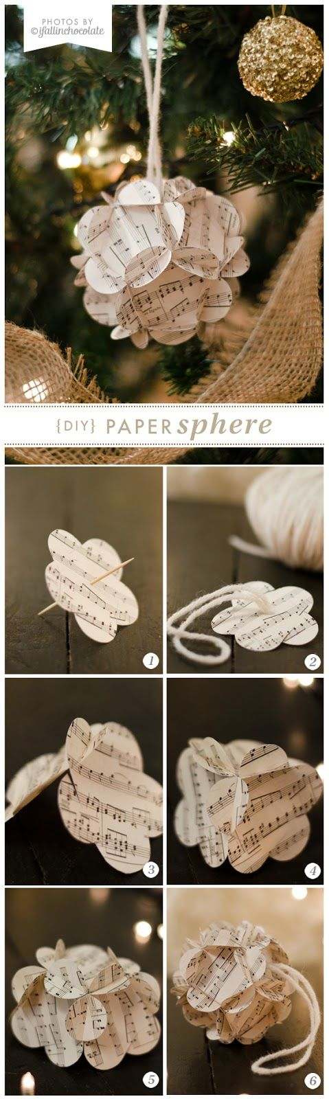 I Fall in Chocolate: DIY PAPER SPHERE