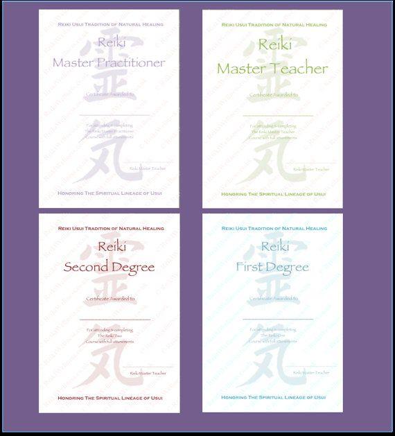 17 best Reiki Healing Therapist images on Pinterest Reiki - degree certificate template