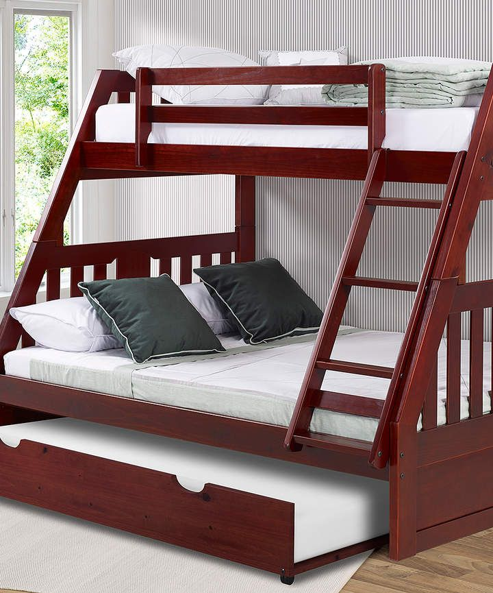 Merlot Mission Twin Full Bunk Bed Twin Trundle Bunk Beds Twin
