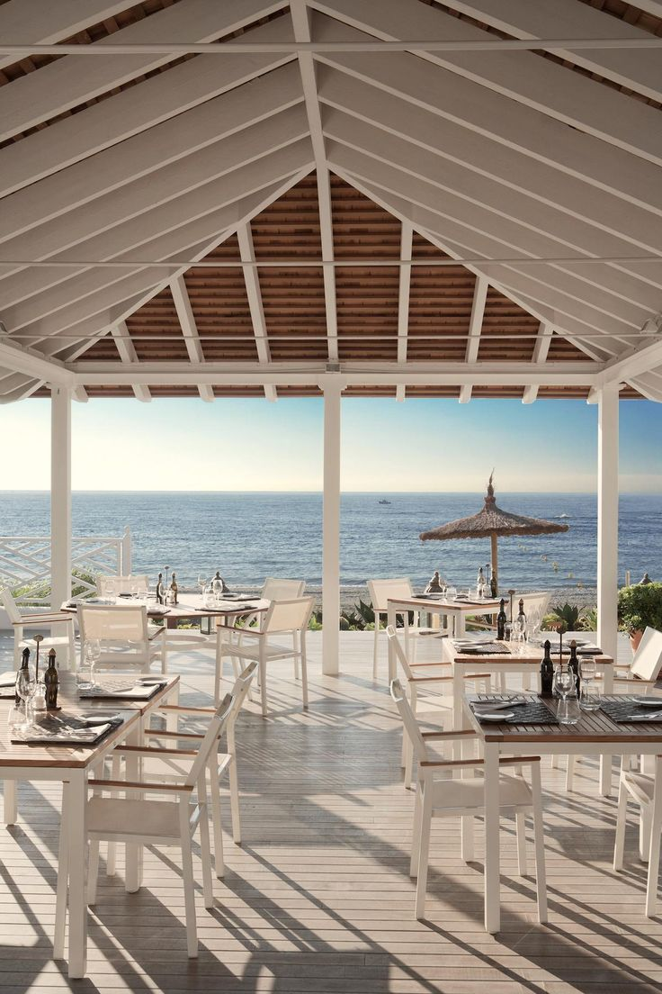 The beach club of the beautiful 5*luxury hotel Finca Cortresin in Southern Spain