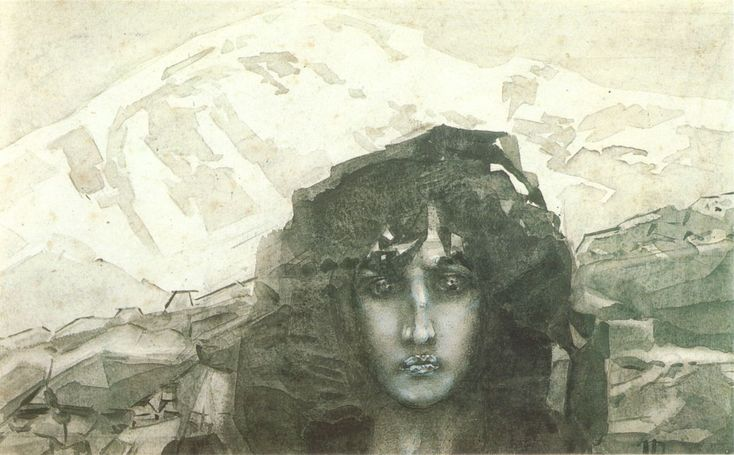 Mikhail Vrubel - Head of Demon (1890)