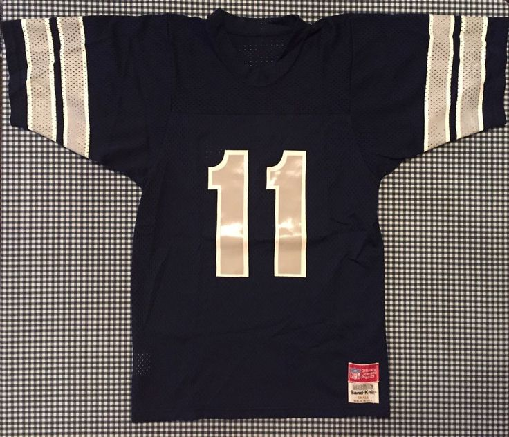 Vintage Danny White Dallas Cowboys Men's Jersey Sand Knit Size Small Navy NFL #Medalist #DallasCowboys