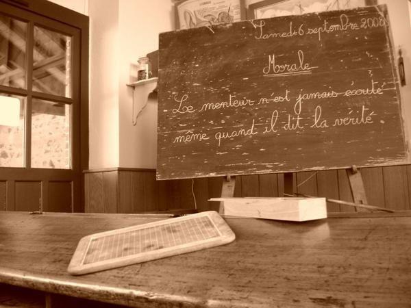Ecole d'autrefois - La leçon de morale