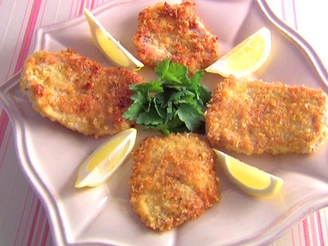 Pork Milanese recipe from Giada De Laurentiis via Food Network