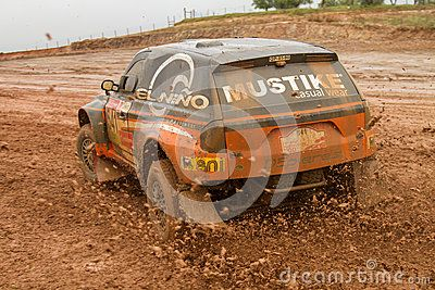 PORTALEGRE, PORTUGAL - NOVEMBER 3: Andre Amaral drives a Proto X3 in BAJA 500, integrated on FIA World Cup for Cross-Country Rallies, in Portalegre, Portugal on November 3, 2012.