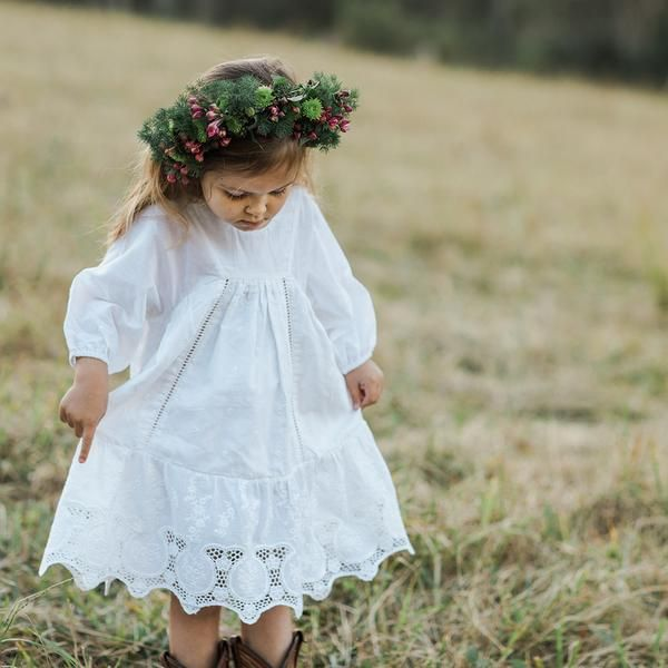 anne of avonlea dress - broderie anglaise | aubrie.com.au