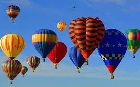 Up, up and away for these hot air balloons!