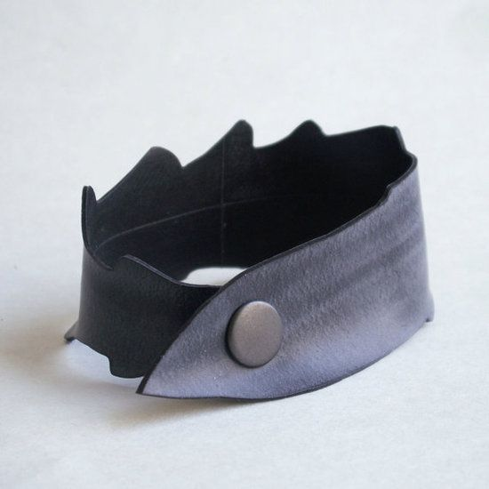 Upcycled Inner Tube Cuff: Made from recycled bicycle inner tubes, this cuff bracelet ($20) has the look of leather. Stylish, eco friendly, and durable this piece of jewelry makes many statements. All of them good.