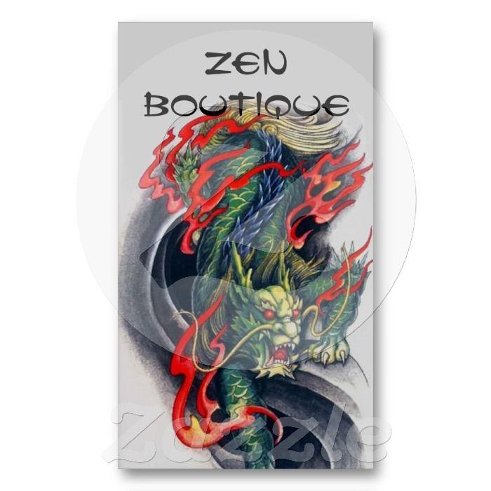 Dragon Tattoo Business Cards, 138 Dragon Tattoo Business Card