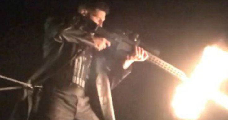 The Punisher Opens Fire in 'Daredevil' Season 2 Teaser -- Jon Bernthal shares a new behind-the-scenes video and photo of his character Frank Castle, a.k.a. The Punisher, in action on 'Daredevil' Season 2. -- http://movieweb.com/daredevil-season-2-punisher-behind-the-scenes-video/