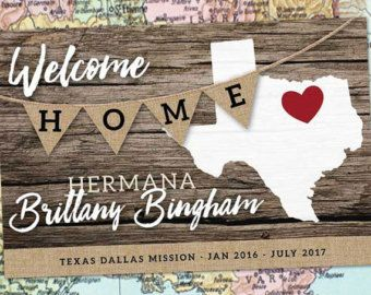 missionary welcome home banner – Etsy