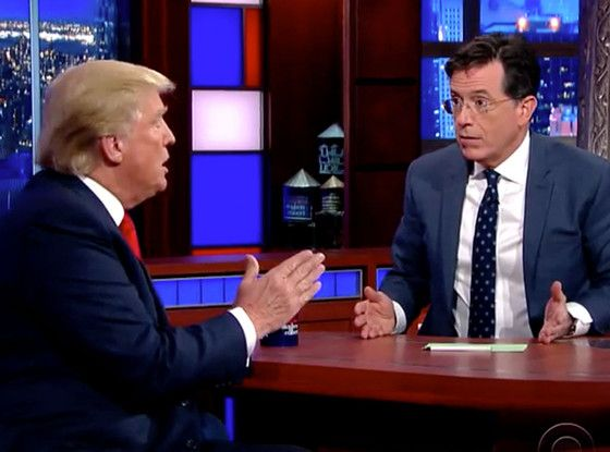 """Donald Trump Refuses to Comment on President Obama's Birthplace: """"I Just Don't Talk About It Anymore""""  Donald Trump visits The Late Show with Stephen Colbert to discuss President Obama's birthplace"""