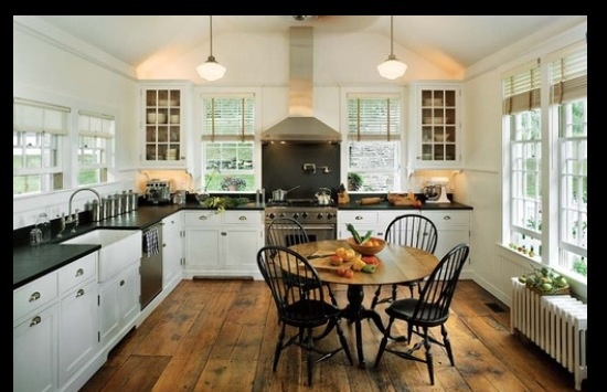 Modern Country Style Anne Turner S Cottage Living Kitchen: White Kitchen Reclaimed Barn Wood Floors