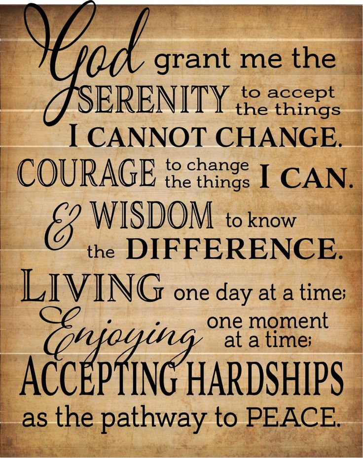 Best 25 Serenity Prayer Ideas On Pinterest Full