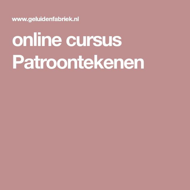 online cursus Patroontekenen