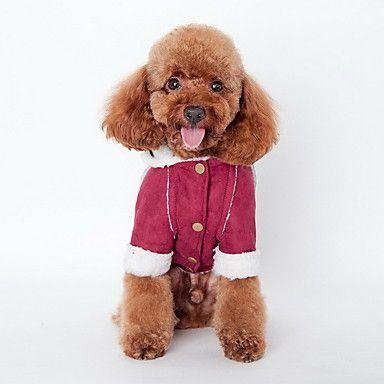 Hundar Kappor Huvtröjor Hundkläder Vinter Enfärgat Mode Håller värmen Kaffe Vin Mörkbrun 5284503 2017 – €129.00