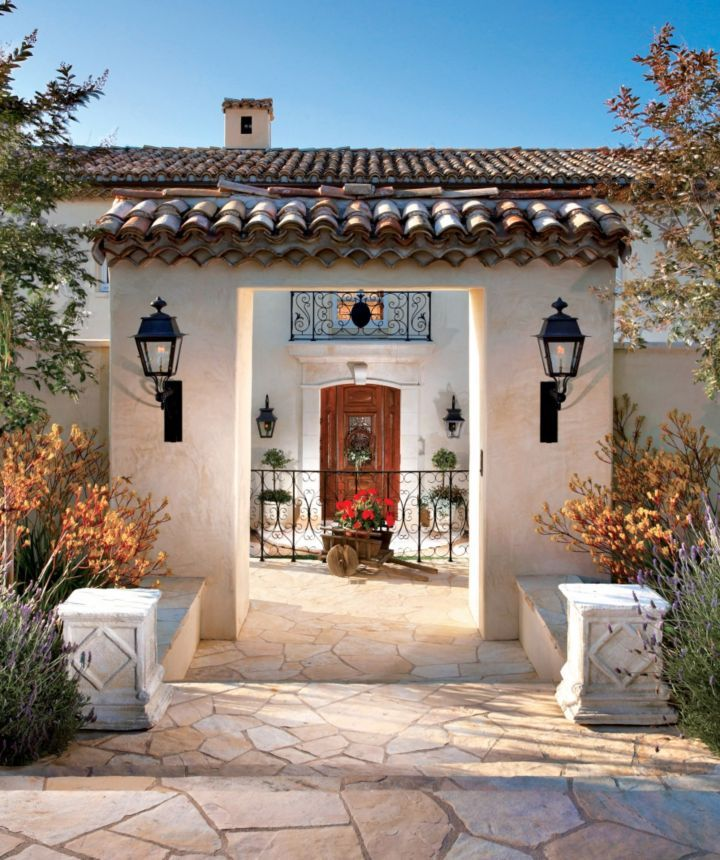 1000 images about mexican home exteriors on pinterest for Spanish hacienda style