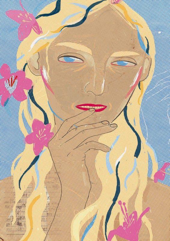 PRETTY - UGLIES: Magda Żmijowska freaky illustrations - osobliwe ilustracje: Notatki florystyczne