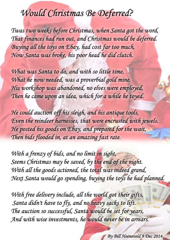 Would Christmas Be Deferred? - Holiday Poems