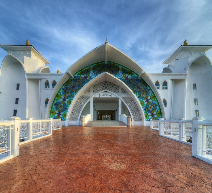 SELAT MOSQUE in the city of Pulau in  Melaka, Malaysia